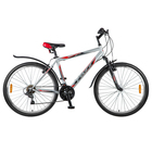"""Велосипед 26"""" Foxx Aztec, 2018, цвет серый/красный, размер 18"""""""