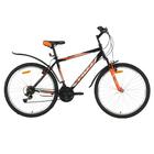 """Велосипед 26"""" Foxx Aztec, 2018, цвет черный/оранжевый, размер 18"""""""