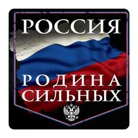 Наклейка на автомобиль 'Россия, родина сильных', 140 х 140 мм Ош