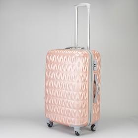 Чемодан сред Геометрия 24', 39*26*56, отдел на молнии, 4 колеса, код замок, розовый Ош