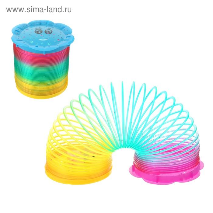 """Пружинка-радуга """"Смайл"""", световая, цвета МИКС"""