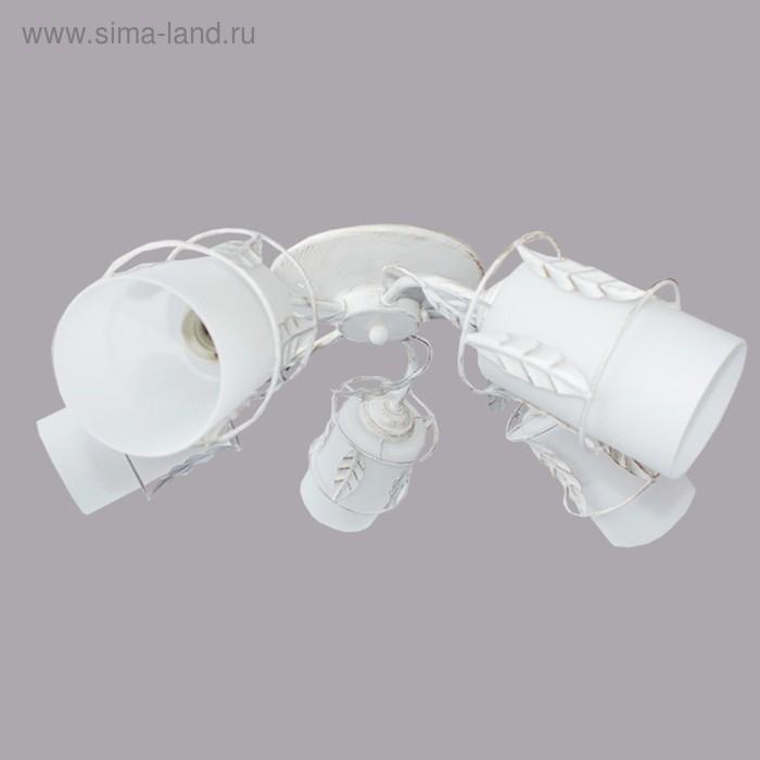 """Люстра """"Анисья """" 5х40Вт E14 белый патина d63см."""