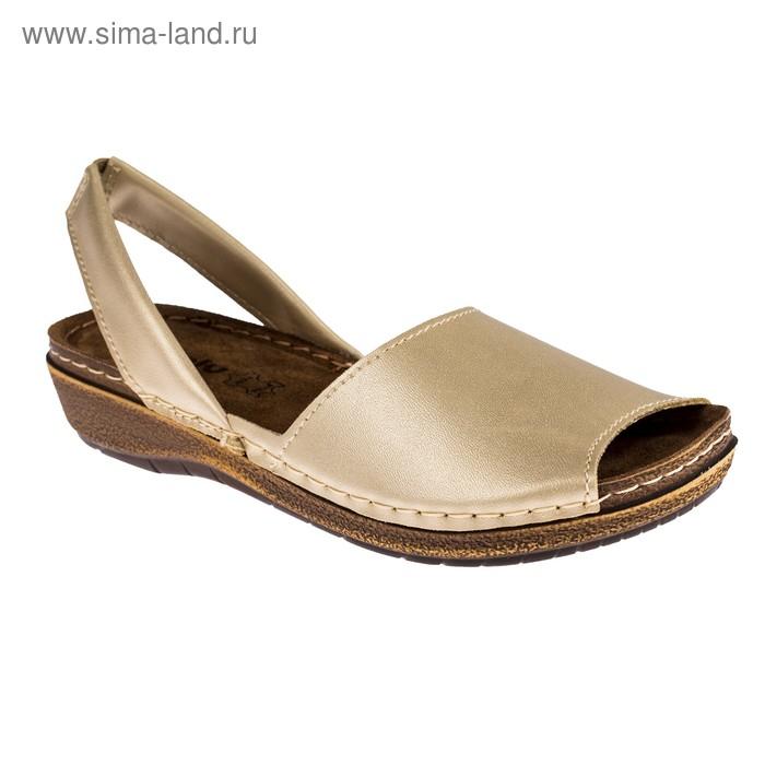 "Туфли летние женские ""Inblu"" арт. 44-1T (платина) (р. 40)"
