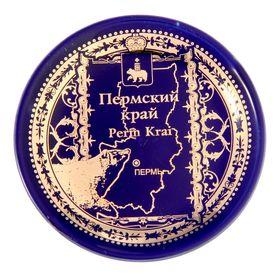 "Магнит-тарелка ""Пермский край. Карта"""