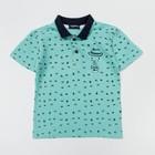 Рубашка-поло для мальчика, рост 74 см, цвет мятный G18-14_М