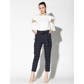 Костюм (блуза, брюки) женский 175 цвет молочный/синий, р-р 42