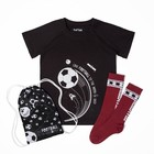"""Набор детский """"Love football"""": мешок 17х28 см, футболка р-р 36 (134-140 см), гольфы 20-22 см   33950"""