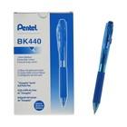 Ручка шариковая автоматическая Pentel WOW 440, резиновый упор, трехгранный корпус, узел 1.0мм, чернила синие