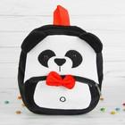 """Мягкий рюкзак """"Панда"""" с красной бабочкой"""