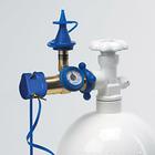 Классическая насадка для баллона с измерителем давления с клапаном плавного нажатия (для лат   35639