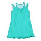 Платье для девочки, рост 98 см, цвет набивка микс на ментоле Л366
