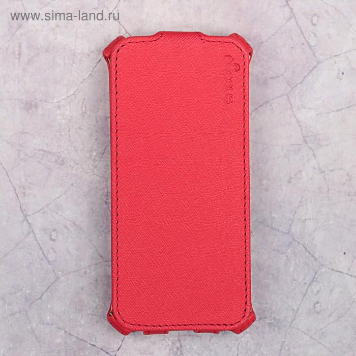 Чехол-флип Snoogy для iPhone 5/5s, иск. кожа, Красный