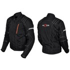 Куртка мотоциклетная, HIZER 514, текстиль, размер S, черный