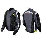 Куртка мотоциклетная, HIZER 505, текстиль, размер S, черно-серый