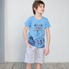 Футболка для мальчика, рост 104 см, цвет голубой 122-310-07