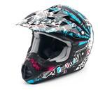 Шлем THH TX-12-12, размер S, черно/сине/розовый