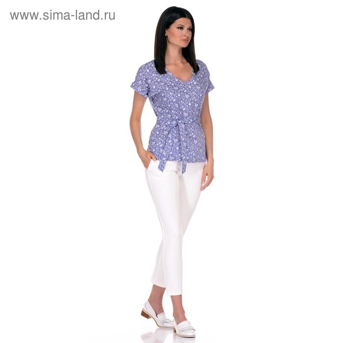 Блуза женская, размер 50, цвет голубой 271