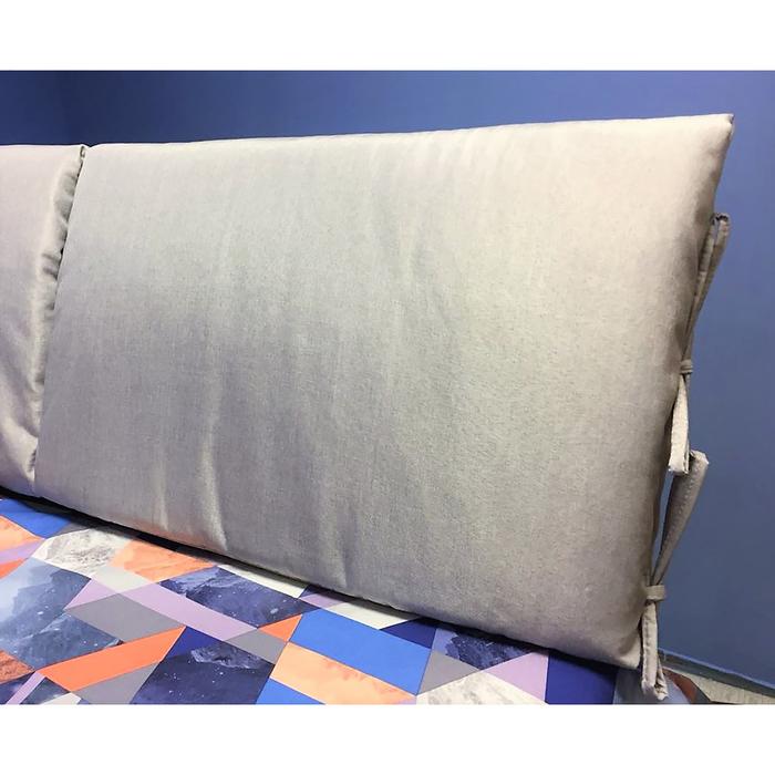 Подушка-изголовье 62х80 см, цвет стальной, рогожка, синтет.волокно, 95% пэ 5%хл