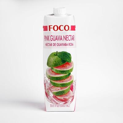 Нектар розовой гуавы FOCO, 1 л Tetra Pak