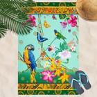 Вафельное полотенце пляжное «Райский уголок» 80х150 см,арт.д, разноцветный, 160г/м2,хл 100%   355437