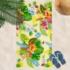 Вафельное полотенце пляжное «Тропикано» 80х150 см, разноцветный, 160г/м2,хлопок 100%
