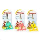 Ножницы 12см травмобезопасные пластик ручки закругленные концы МИКС Бабочка