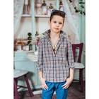 Сорочка для мальчика, рост 104 см, цвет коричневый