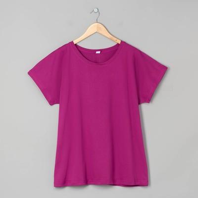 Футболка женская, цвет фиолетовый, размер 54