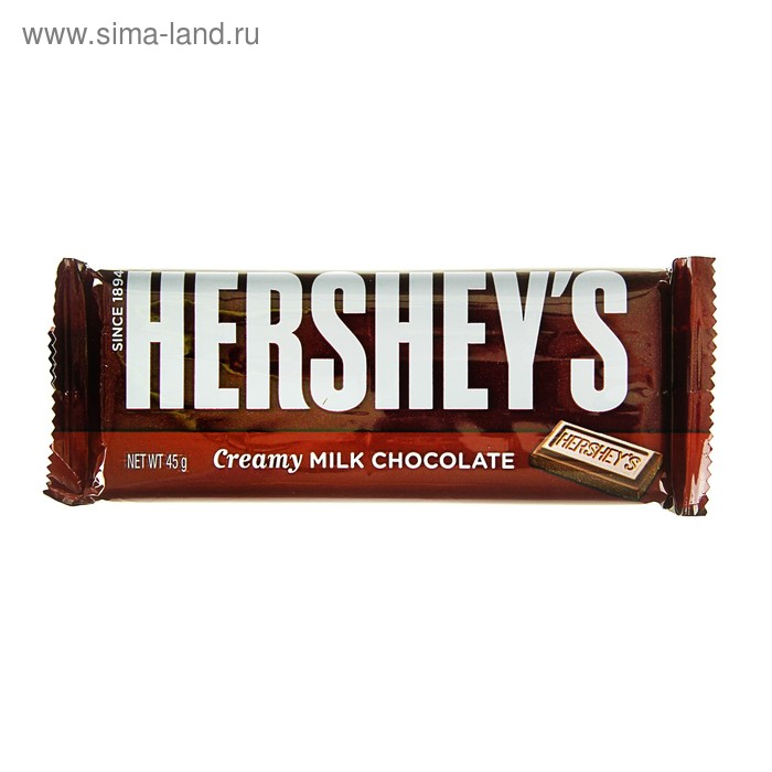Шок. батончик Hersheys Milk Choc Bar 45г (36)
