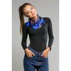 """Платок женский """"Роберта"""", размер 60*60 см, цвет синий"""