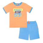 Комплект для мальчика (футболка+шорты), рост 116 (60) см, цвет оранжевыйголубой 4218