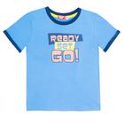 Комплект для мальчика (футболка+шорты), рост 116 (60) см, цвет голубой/синий 4218