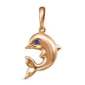 Подвеска 'Дельфин', позолота Ош