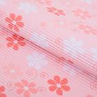 """Бумага гофрированная """"Ромашки на розовом"""", 50 х 70 см"""