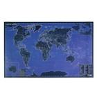 Карта Мира 60*90см. Светящаяся в темноте (мат.лам,самоподзаряж.на свету) в тубусе