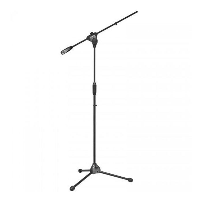Стойка микрофонная BESPECO MS11 напольная, высота: 202см, длина наклонной части: 64см, черный   2506