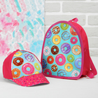 """Детский набор """"Самая сладкая"""": кепка 54-60 см, рюкзак 21 х 25 см"""