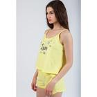 Комплект женский (майка, шорты) 8914 цвет жёлтый, р-р 42