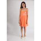 Сорочка женская 80108 цвет оранжевый, р-р 44
