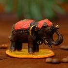 "Сувенир бронза ""Красный слоник"" 6,5х3,5х4 см"