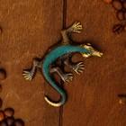 """Сувенир бронза """"Ящерица"""" 6,5х5х1,1 см"""