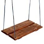 Качель подвесная, деревянная, брашированная, состаренная, 40х22см, цвет микс