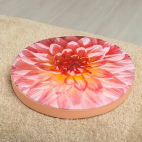 Подушка на стул Георгин роз, D-40, габардин, поролон