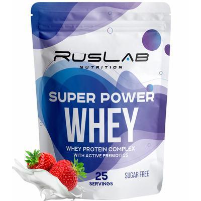 Протеин Super Power Whey, клубника, 950 г