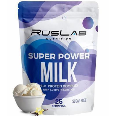Протеин RusLabNutrition Super Power Milk (950г), ваниль