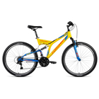 """Велосипед 26"""" Forward Raptor 1.0, 2018, цвет желтый/синий, размер 16''"""