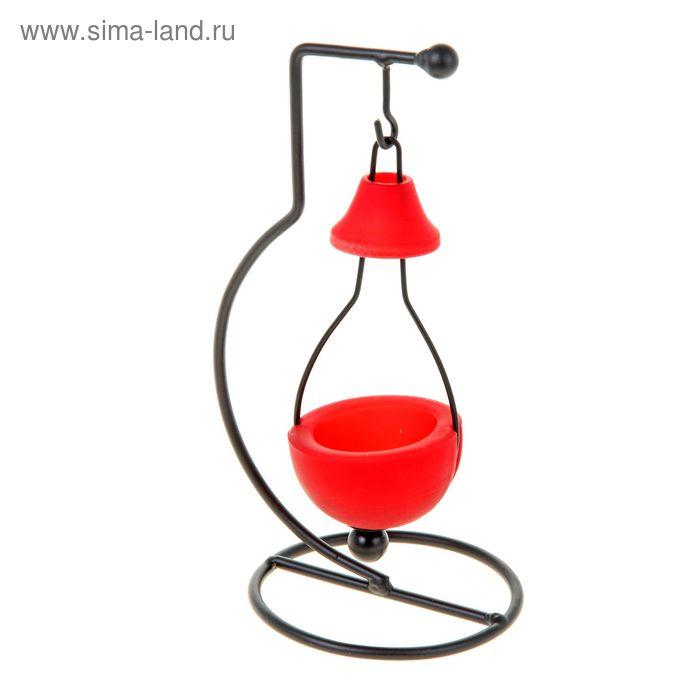 """Подсвечник """"Фонарик"""", цвет бордовый"""