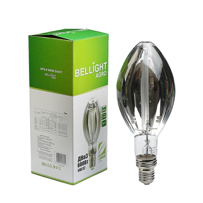 Лампа натриевая BELLIGHT ДНаЗ 600 Вт Е40/57 Агро BL, Е40/57, 85000лм, 380 В зеркальная