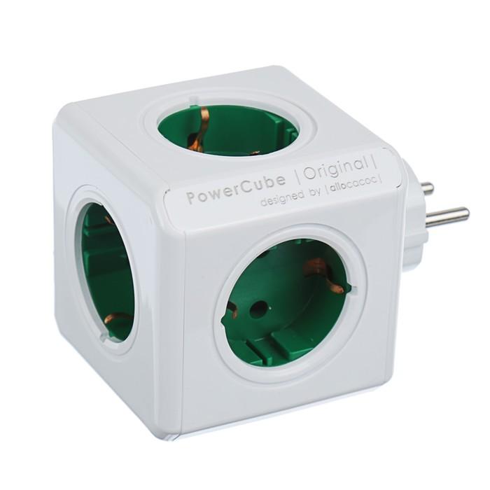 Разветвитель PowerCube Originals, зеленый