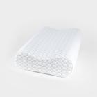 Анатомическая подушка Rosava Comfort M2 48х31 см, бел SilverIons Memory Foam, 75%пэ, 25 виск   36247